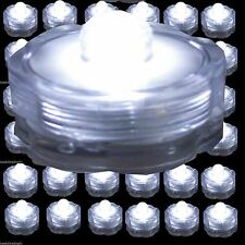 36 48 60 120 WHITE Led Submersible Waterproof Wedding Decoration Party Tea Light