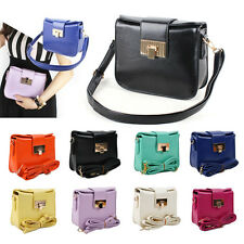 NEW Women Ladies Shoulder Messenger CrossBody Square Clutch Gloss Bag Handbags