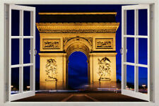 PARIS FRANCE Wall Window Decal Sticker Vinyl Art Decor Home 3d Removable Mural