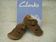 Clarks Boys Steamboat Tan Leather Sandal Style First Shoe Cruisers
