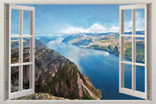 Window Graphic Mural Charity item Scape Instant View Beach at Sunset Wall Decal