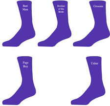 Purple Luxury Cotton Rich Wedding Socks, Groom, Best Man, Usher