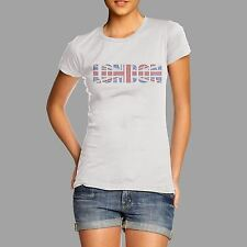 Women's Union Jack London Rhinestone Diamante T Shirt