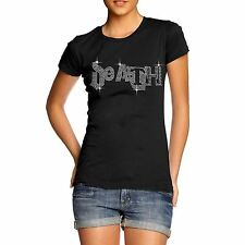 Death Gothic Women's Rhinestone Crystal Diamante T Shirt  Adults Sizes