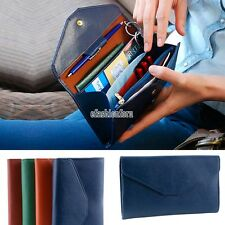 Women Envelope Wallet ID Case Purse Clutch For Iphone Samsung Galaxy Phone Bag