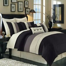 Hudson Black Luxury 8-Piece Comforter Set (Available in 4 Sizes)