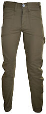 MENS TEENS DESIGNER ENZO EZ84 CHINO CUFFED JOGGER FUNKY JEANS PANTS