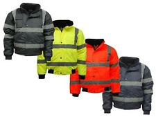 PREMIUM HI VIZ VISIBILITY BOMBER JACKET MEN'S WORK WEAR