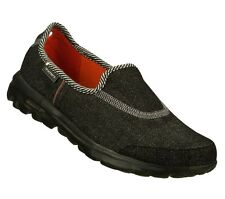 13575 BLACK SKECHERS SHOE GO WALK WOMEN DENIM FABRIC SLIP ON LIGHT SOFT FLEXIBLE