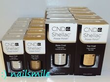 CND Shellac Gel BASE COAT / TOP COAT / BASE & TOP Gel Polish Soak-off*Choose Any