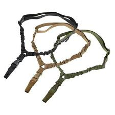 Tactical One Single Point Sling Adjustable Bungee Rifle Gun Sling Strap System