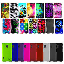 For LG Optimus F7 US780 Hard Thin Case Solid Color Design 2-Piece Snap On Cover