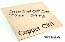 0.55 mm Thick Copper Sheet Offcuts Mixed Sizes  Arts & Crafts & Jewellery Making