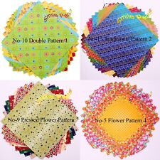 """6""""×6"""" Korean Origami Paper Double Sided Coloured Sheets Square Paper Pack Luxury"""