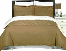 Geneva Embroidered 4-PC Comforter Set 100% Combed Cotton