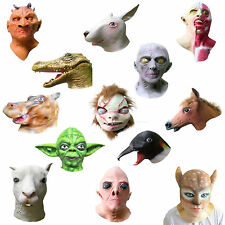 Overhead Latex Mask Halloween Fancy Party Animal Rubber Masks over 40 DESIGNS !