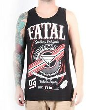 "Fatal Mens ""Stay True"" Tank Top Tattoo Style Southern California Cali Loyalty."