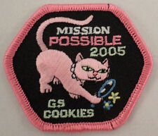 Girl Scout Patch Mission Possible 2005 Siamese Kitten Cat Gs. Cookies #Gspk