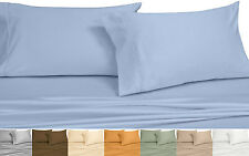 Twin/Twin XL Duvet Cover Set 650TC Solid Cotton Blend Wrinkle Free