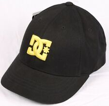 DC Take Radka Womens Flexfit Hat Black Yellow Logo