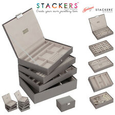 Stackers Classic Size In Mink With Grey Valvet Linings Jewellery Boxes