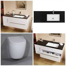 Vada Range Vanity Furniture Cabinet Basin Units & Asix Wall Hung Toilet Pan