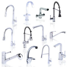Modern Stylish Faucet Tap Kitchen Sink Mixer Pull Out Chrome Swivel Spout Brass