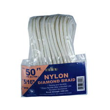 Twisted 5 Star or Diamond Braid Nylon Synthetic Rope – Many Sizes Available