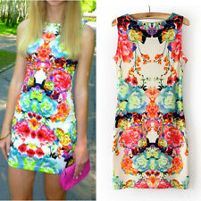Women Summer Sexy Sleeveless Casual Party Evening Cocktail Short Mini Dress