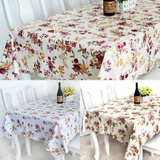 Fashion Floral PVC waterproof Tablecloths heat insulation For Restaurant Banquet