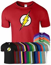 Men Boys Unisex Flash Super Hero Bazinga T-shirt Tee Top T Shirt XS S M L XL XXL