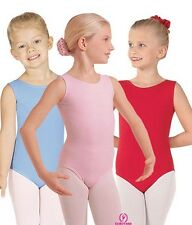 Eurotard 1089 tank leotard scoop neck front lined cotton dance girls kids new