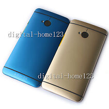 New Housing Battery back Cover Door For HTC One M7 801n 810e 801s Blue / Gold