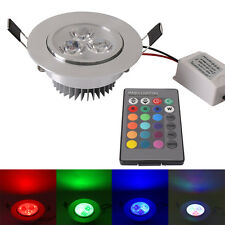 RGB/Red/Blue/Green 5W LED Ceiling Down Light Recessed spotlight lamp Bulbs Round