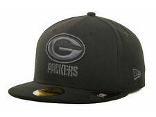 Official Green Bay Packers New Era NFL Black Gray Basic 59FIFTY Fitted Hat