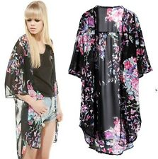Vintage Retro Women Ethnic Floral Butterfly Loose Kimono Cardigan Jacket Coat