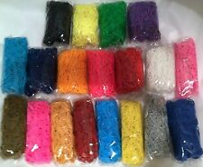 US SELLER Many Colors RUBBER BANDS REFILL for RAINBOW LOOM Choose Color/Quantity