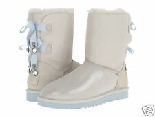 UGG Australia Women's Baily Bow I Do Sheepskin White 1004140