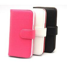Wallet Leather Case Cover + LCD Film For Samsung Galaxy Core LTE SM-G386F