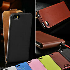 MAGNETIC LEATHER FLIP FOLIO CASE COVER FOR iPHONE 5 5S FREE SCREEN PROTECTOR