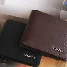 New Mens Leather Bifold Wallet Credit Card Purse ID Window #MW051H