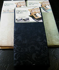 "MICROFIBER REVERSIBLE DRYING MATS BY KAREN RHODES-""SCROLL""- ASST. COLORS-15 X20"