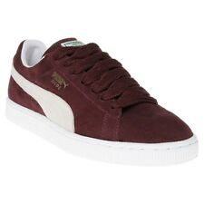 New Mens Puma Maroon Suede Classic Trainers Retro Lace Up