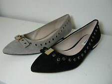 Women Clarks Amulet Magic Black Or Mushroom Suede Leather Slip On Shoes