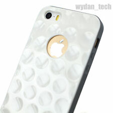 For Apple iPhone SE 5S 5 4S 4 Glossy White Golf Ball Dimple Hybrid Case Cover
