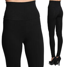 MOGAN Cotton/Spandex HIGH WAISTED Convertible Skinny Thick LEGGINGS