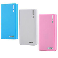 20000mAh External Power Bank Backup Dual USB Battery Charger For Cell Phone SR