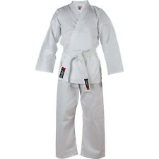 Blitz Childrens White Cotton Karate Suit Kids Martial Arts Uniform Gi White Belt