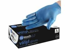 BULK BUY NT 4.0 BLUE VINYL FOOD SAFE Disposable Powder and Latex Free Gloves