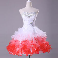 CHARM Girls Princess Quinceanera Short Formal Prom Bridesmaid Party Gown Dresses